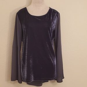 Faded glory gray blouse L